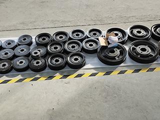 无锡达通的锥套皮带轮打包发货