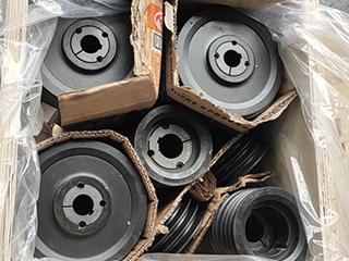 贝科真空的锥套皮带轮打包发货